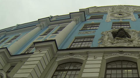 Nakhimov school in St. Petersburg Stock Video Footage