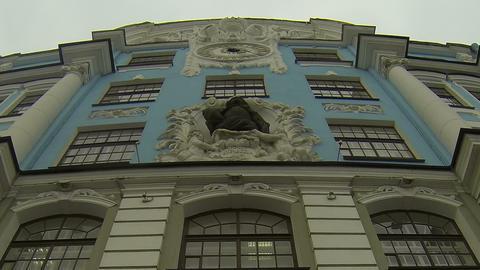 Nakhimov school in St. Petersburg Stock Video Footage