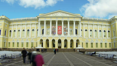 State Russian Museum in St. Petersburg Footage