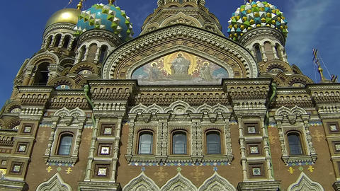 Church of the Savior on Blood in St. Petersburg Stock Video Footage