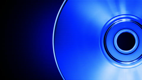 Blue compact disk Stock Video Footage
