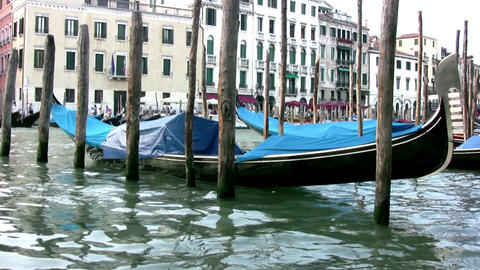 The gondola in Venice Footage