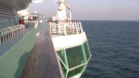 Promenade deck of cruise ship Footage