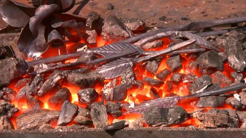 Metal flower Stock Video Footage