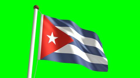 Cuba flag Stock Video Footage