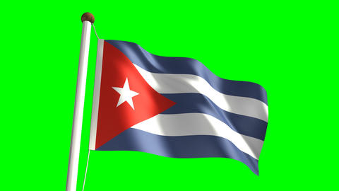 Cuba flag Stock Video Footage