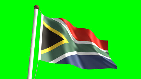 South Africa flag Stock Video Footage