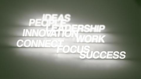 Success Timeline Keywords Stock Video Footage