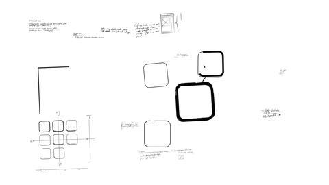 Mobile App Development Whiteboard Scribblings Stock Video Footage