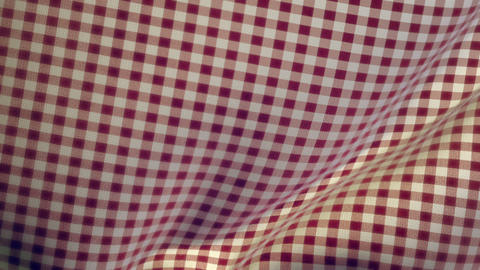 Kitchen Table Cloth Falling onto Flat Surface Transition Stock Video Footage