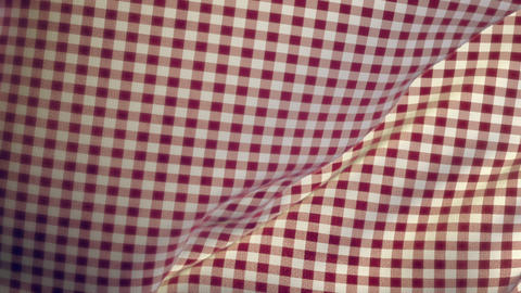 Kitchen Table Cloth Falling Onto Flat Surface Transition stock footage
