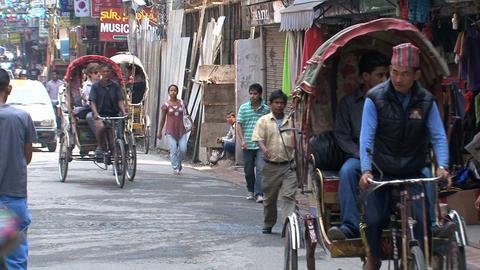 Traffic in thamel Kathmadu Stock Video Footage