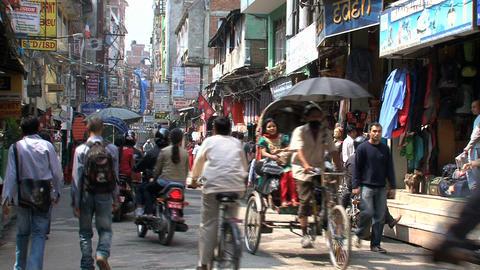 People in thamel Kathmandu Footage