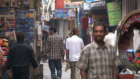 People in thamel Kathmandu Stock Video Footage