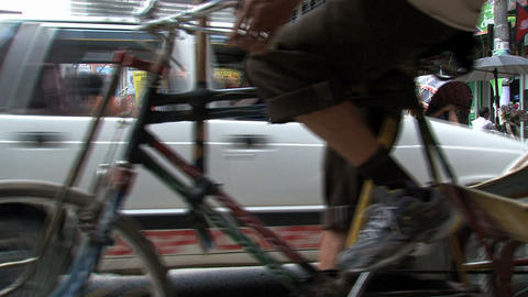 Bike taxi passing by Stock Video Footage