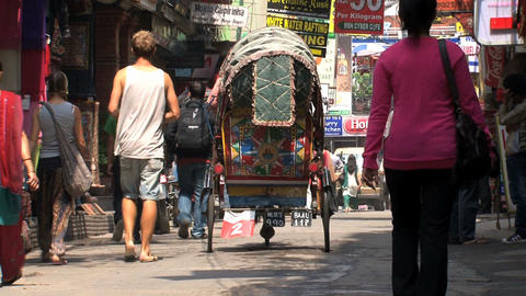Morning in thamel kathmandu Stock Video Footage