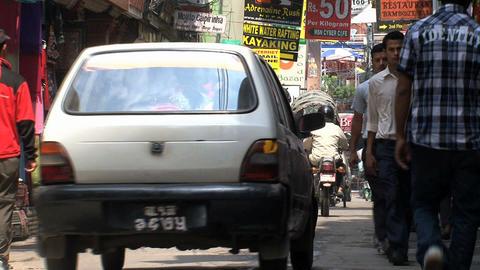 Morning in thamel kathmandu Footage