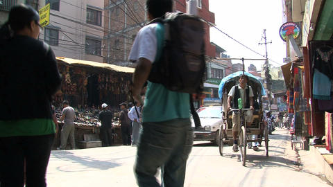 Corner in Thamel Kathmandu Stock Video Footage