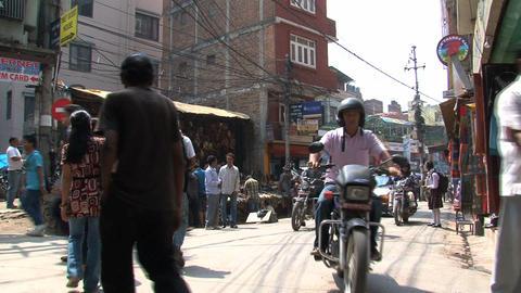 Corner in Thamel Kathmandu Footage