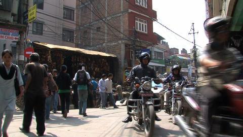 Corner in Thamel Kathmandu Stock Video Footage