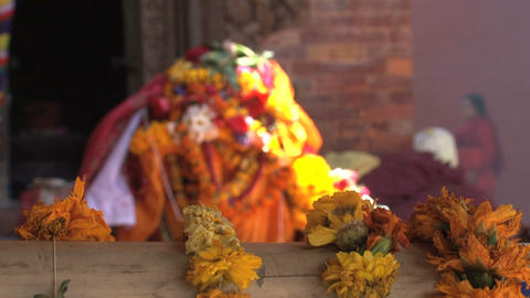 Hindu offers with music at the background Stock Video Footage