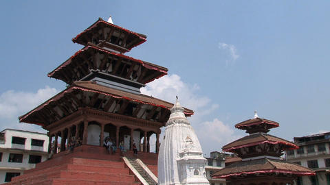 Temples near Durbar Square Stock Video Footage