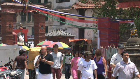 People walking in a street Stock Video Footage