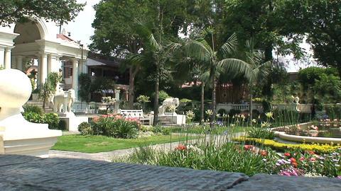 Garden of dreams in Kathmandu Stock Video Footage