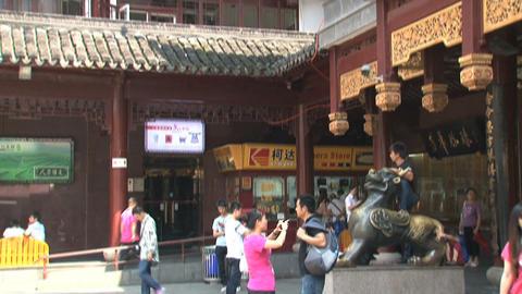 Tilt houses Yuyuan garden Footage