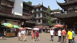 Busy Yuyuan Garden stock footage