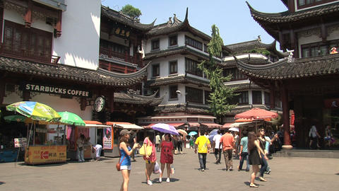Busy Yuyuan garden Stock Video Footage