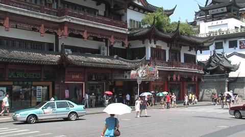 Yuyuan garden traffic Stock Video Footage