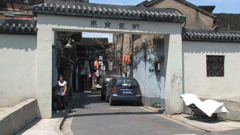 Chinese street entrance Stock Video Footage