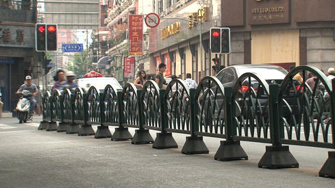 Busy traffic street in Shanghai Footage