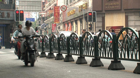 Busy traffic street in Shanghai Stock Video Footage