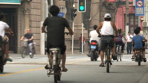Traffic in Shanghai Stock Video Footage