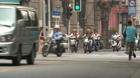 Traffic in Shanghai Stock Video Footage