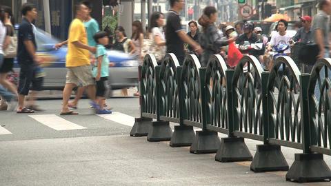 People crossing a pedestrian Stock Video Footage