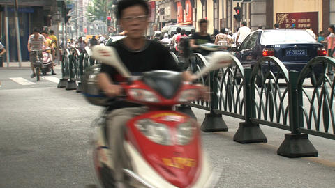 Bikes zoom out Stock Video Footage