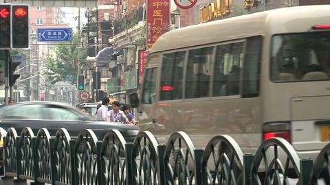 Busy street with people Stock Video Footage