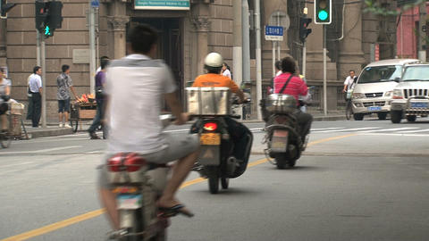 Traffic Shanghai Stock Video Footage