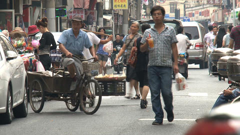 Typical chinese street Footage