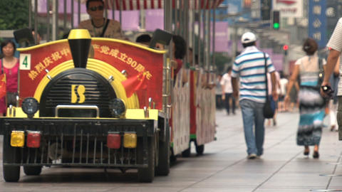 Train at Nanjing Road Footage