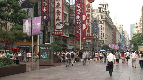 Nanjing Road street Stock Video Footage