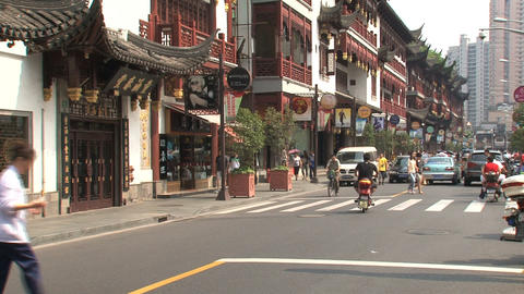 Yuyuan Garden street Stock Video Footage