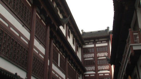 Yuyuan Garden market tilt Stock Video Footage