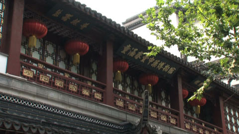 Yuyuan Garden building pan Footage