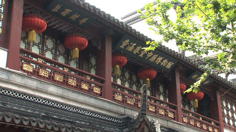 Yuyuan Garden building pan Stock Video Footage