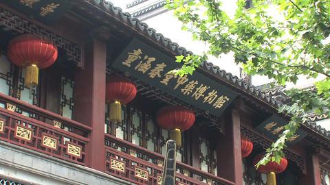 Street scene in Yuyuan Garden Stock Video Footage