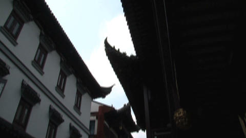 Tilt street Yuyuan Garden Stock Video Footage